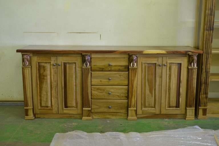 Wood Sideboard Black wood African Style By Furniture ART Company