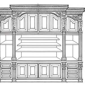 Sketches done by Furniture Art Company