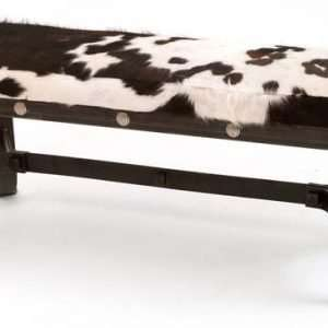 Iron and Fur Bench By Furniture ART Company
