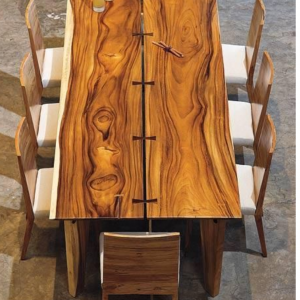 African Wood Table By Furniture ART Company
