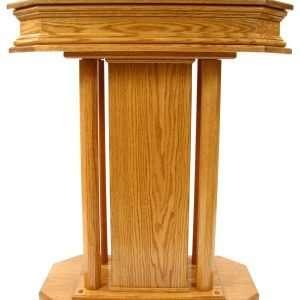 Small wooden church pedestal