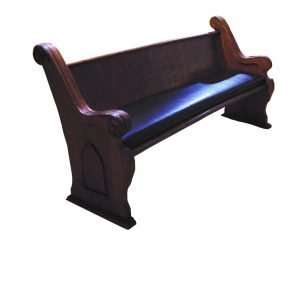 Church Bench with Cushion