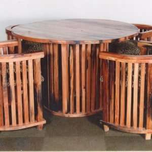 Art Deco Table and Chairs By Furniture ART Company
