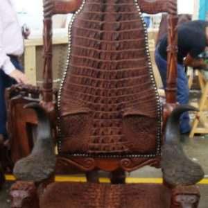 Crocodile Leather Chair