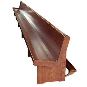 Church Bench with back leg rest