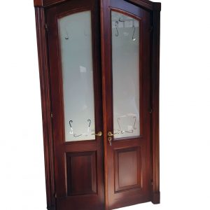 Double arrow tipped wooden door