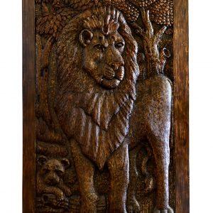 Double Lion Pivot Door