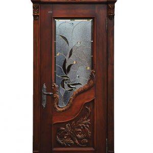 Single Wooden Engraved Door