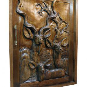 Wooden kudu pivot door