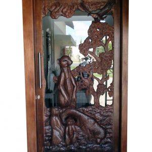 meerkat wooden door